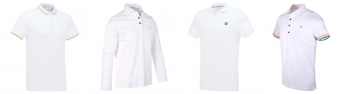 Witte Polo's Blue Industry